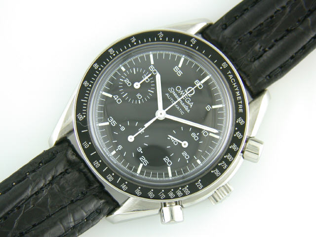 8ccbb27e758f OMEGA  Stainless steel Omega Speedmaster automatic chronograph strap watch.  Stainless steel